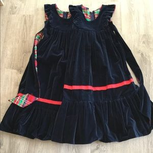 Other - Two Vintage, Navy Velveteen Girl's Pinafores